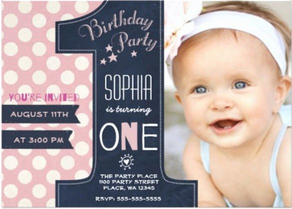 First Birthday Board Template Best Of 36 First Birthday Invitations Psd Vector Eps Ai Word