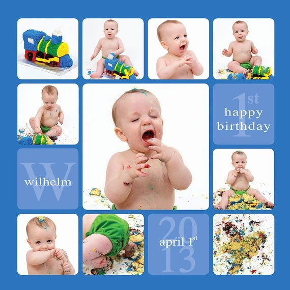 First Birthday Board Template Luxury Cake Smash Template Story Board Template by Sugarpickledesigns