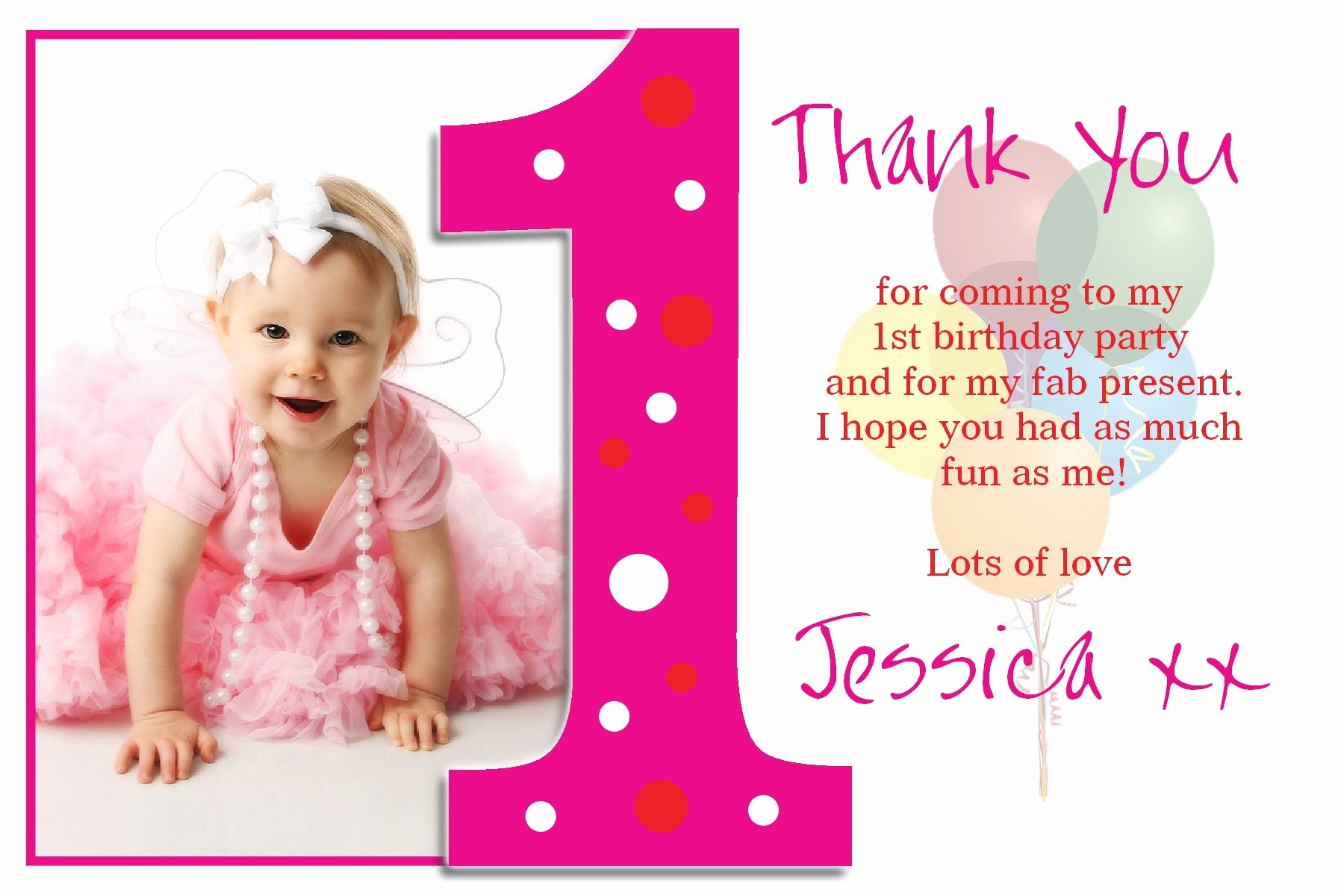 First Birthday Board Template New Personalised Christening Thank You Cards Personalised
