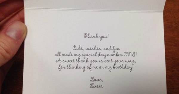 First Birthday Thank You Sayings Best Of 1st Birthday Thank You Card Wording