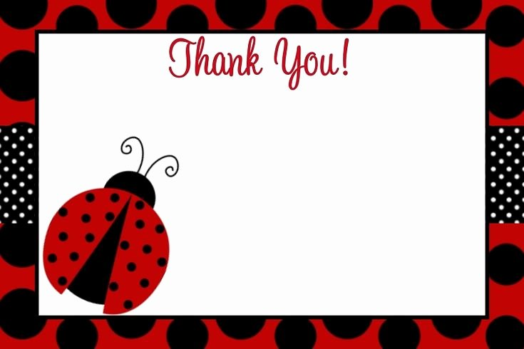 First Birthday Thank You Sayings Best Of Ladybug Thank You Card Wording