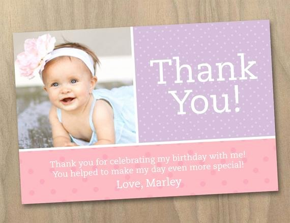 First Birthday Thank You Sayings Luxury Items Similar to Thank You Card Baby Girl First