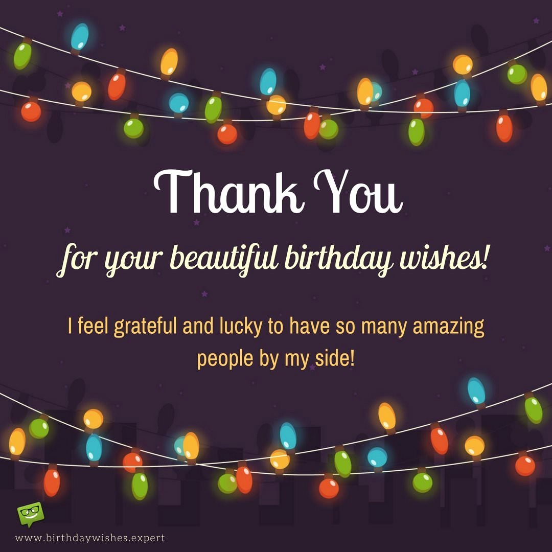 First Birthday Thank You Sayings New Thank You for Your Birthday Wishes