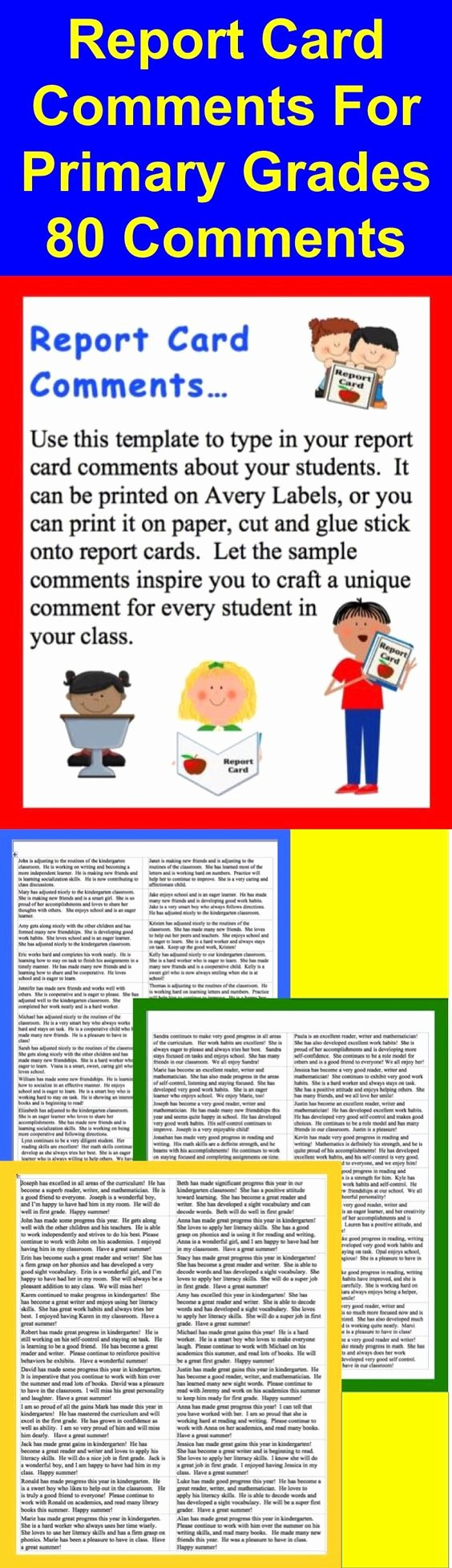First Grade Report Card Template Best Of Pinterest • the World's Catalog Of Ideas