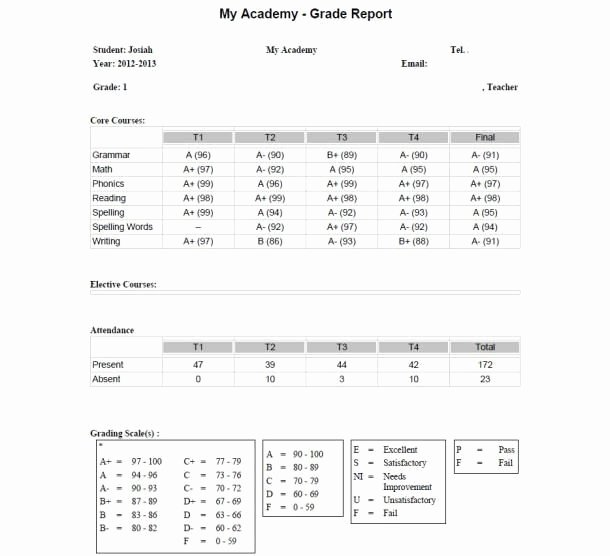 First Grade Report Card Template Lovely 25 Best Images About Homeschool Grade Cards On Pinterest