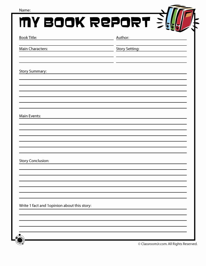 First Grade Report Card Template Lovely Book Report forms