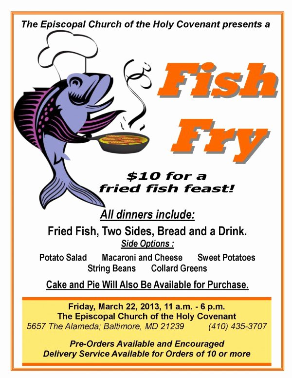 Fish Fry Fundraiser Flyer Beautiful 8 Best S Of Chicken and Fried Fish Dinner Flyers