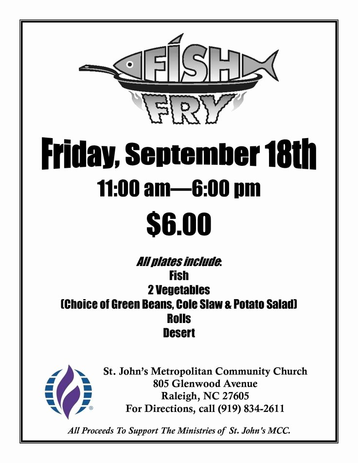 Fish Fry Fundraiser Flyer Beautiful Free Fish Fry Flyer Templates Fish Fry Poster