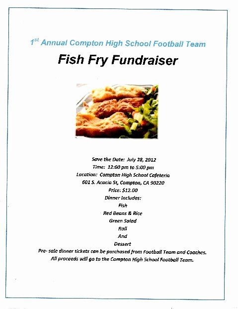 Fish Fry Fundraiser Flyer Best Of Fundraiser Flyer Template