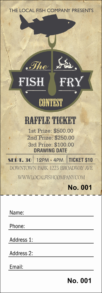 Fish Fry Fundraiser Flyer Elegant Fish Fry Raffle Ticket