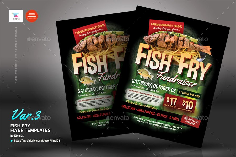 Fish Fry Fundraiser Flyer Inspirational Fish Fry Flyer Templates by Kinzi21