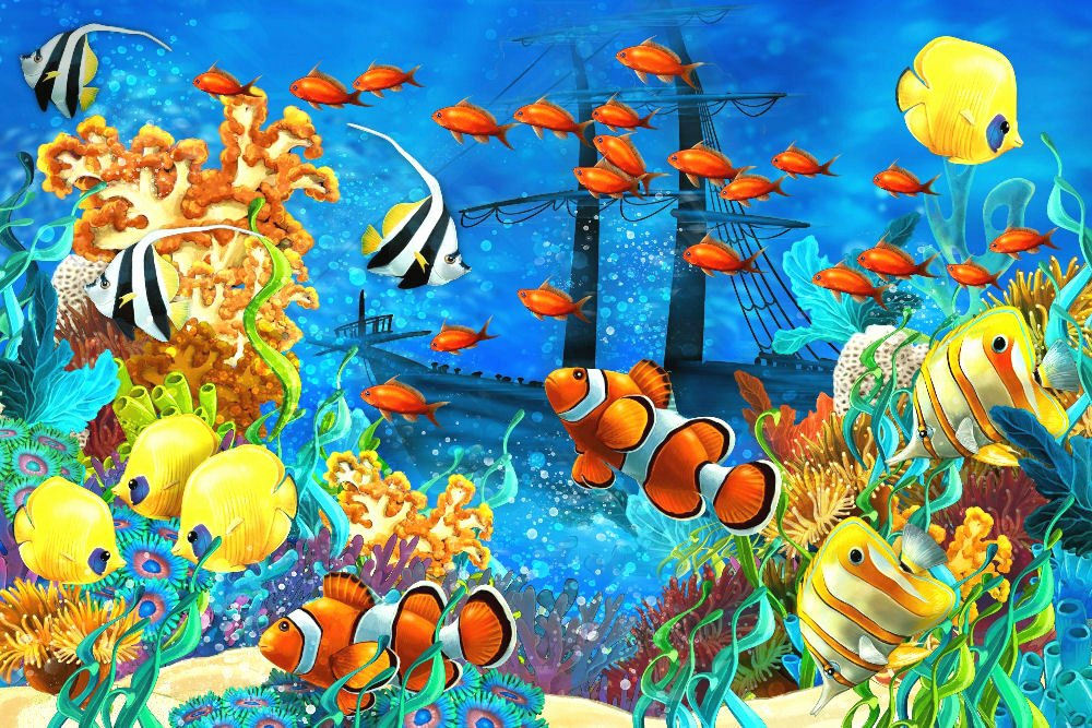 "Fish Pictures to Print Best Of Tropical Fish Aquarium Underwater Art Print Poster 36"" X"