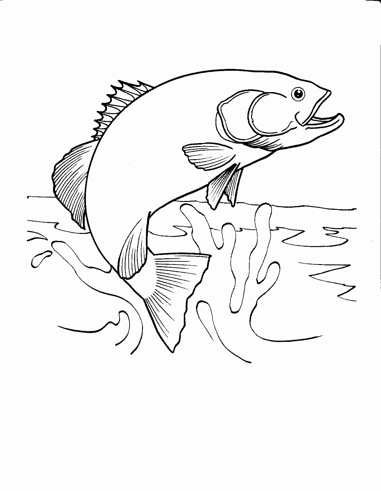 Fish Pictures to Print Fresh 33 Fishing Coloring Pages Printable Fishing Coloring