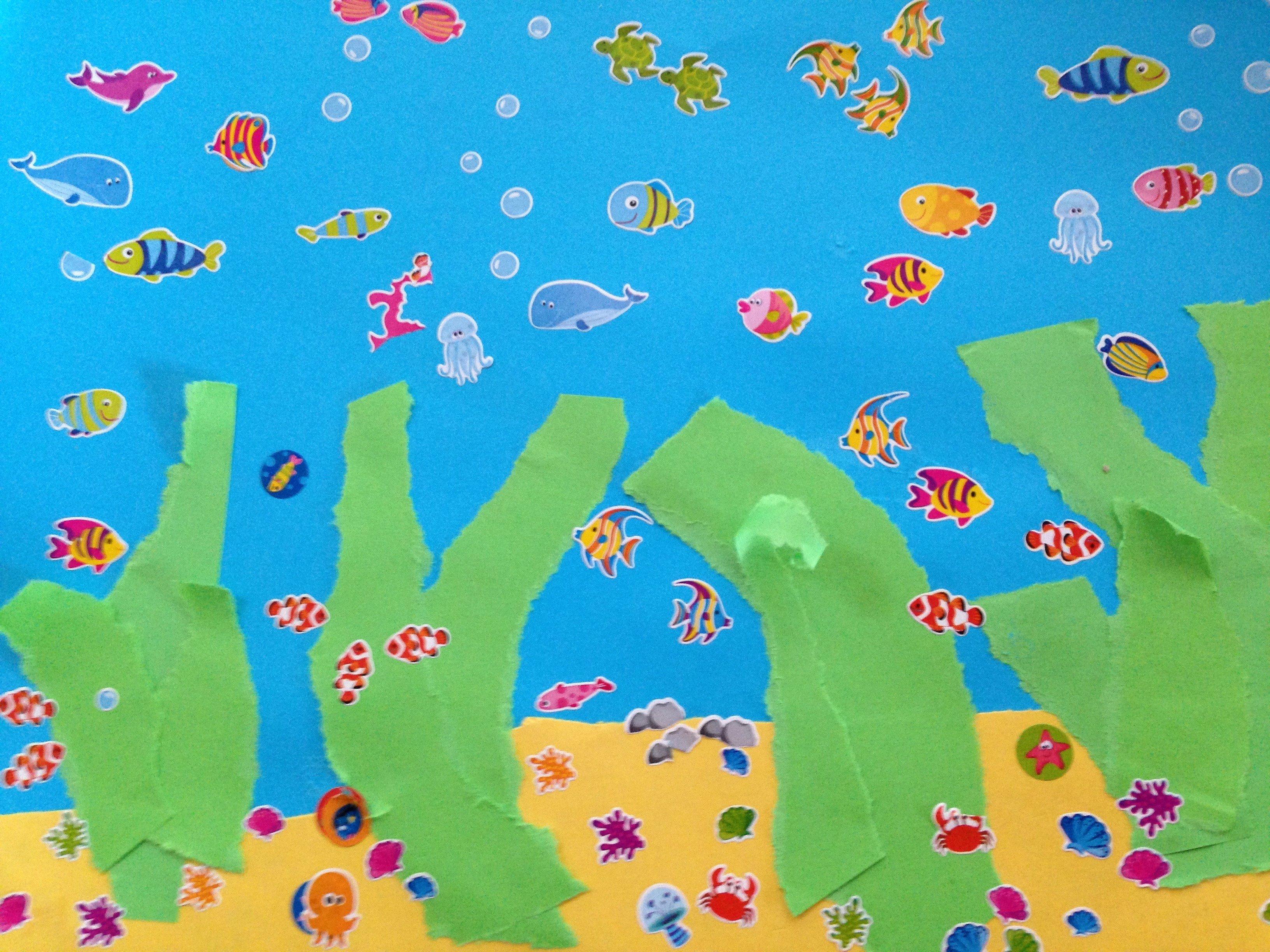 Fish Tank Background Paper Fresh Fish Tank Craft