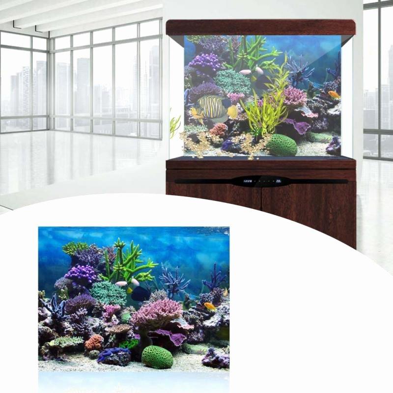 Fish Tank Background Paper Inspirational Pvc Adhesive Underwater Coral Aquarium Fish Background
