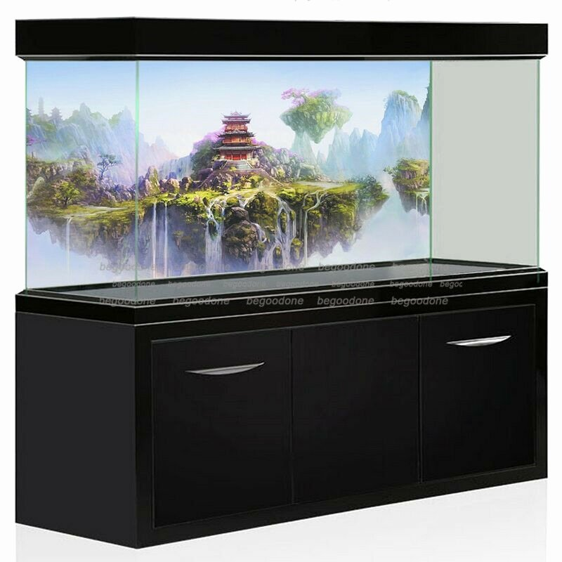 Fish Tank Background Pictures Beautiful Aquarium Fantasy Background Poster Wuxia Mountain Backdrop