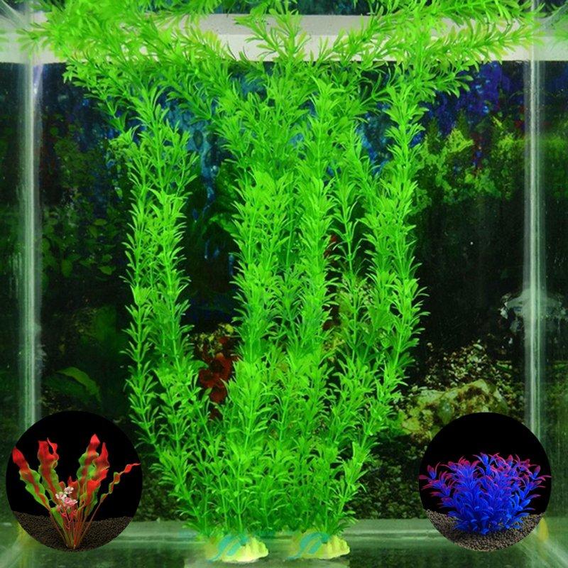Fish Tank Background Pictures Fresh Plastic Artificial Aquarium Plants Decoration Submersible
