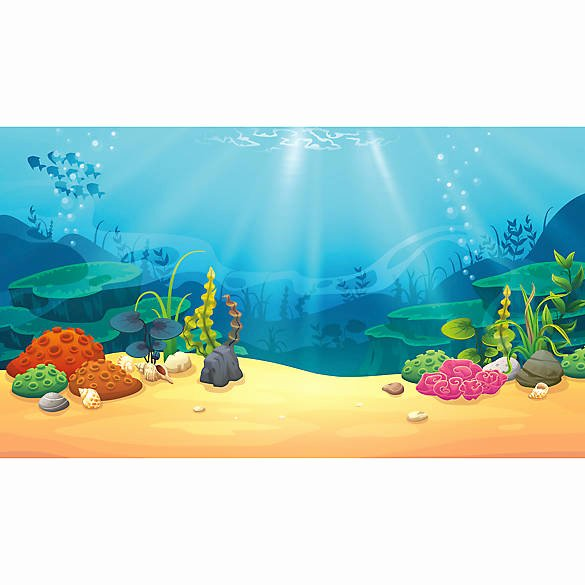 Fish Tank Background Pictures New top Fin Coral & Treasure Reversible Aquarium Background