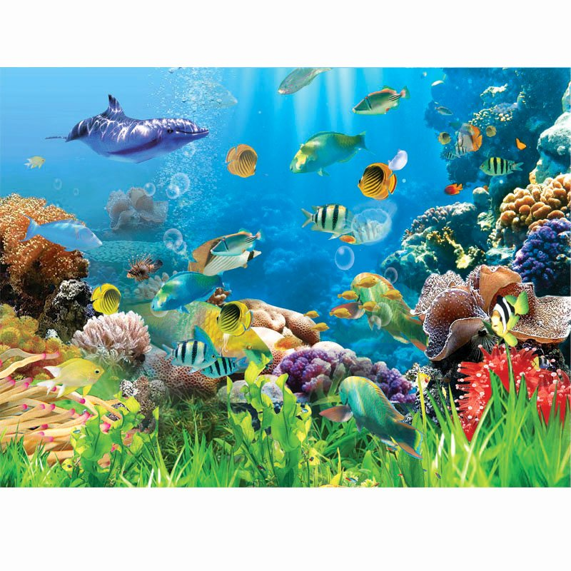 Fish Tank Background Pictures New [usd 21 07] Custom Aquarium Background Paper Fish Paste