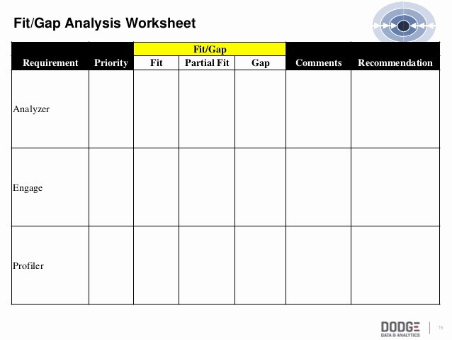 Fit Gap Analysis Template Inspirational Bpr Workshhop