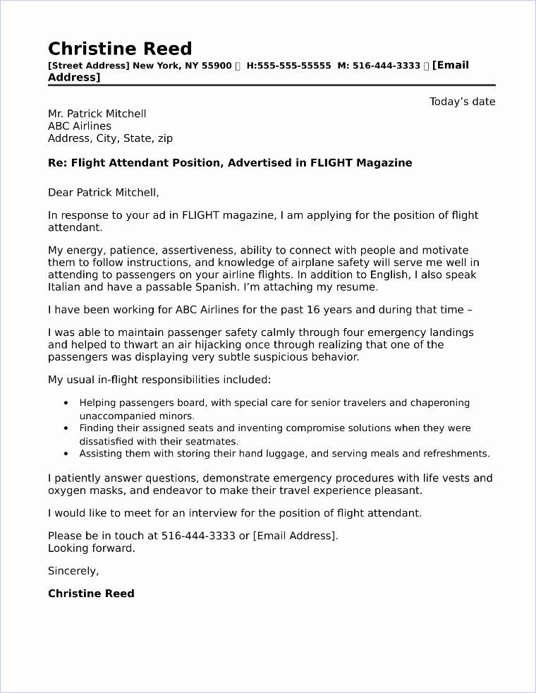 Flight attendant Cover Letter Example Elegant Travel Consultant Cover Letter Sample