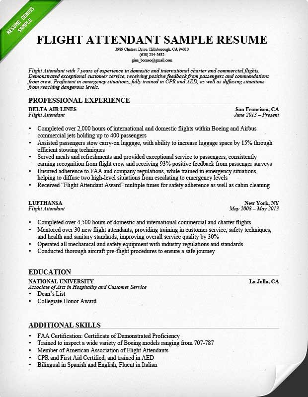 Flight attendant Cover Letter Example Luxury Flight attendant Cover Letter