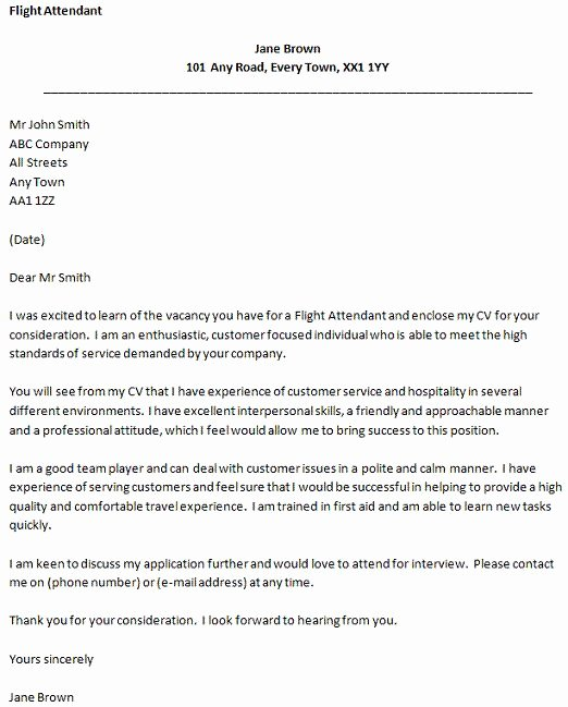 Flight attendant Cover Letter Example Unique Flight attendant Cover Letter Example forums Learnist