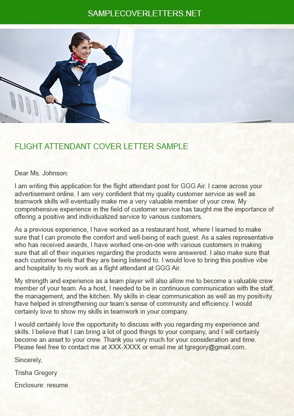 Flight attendant Cover Letter Sample Awesome Flight attendant Cover Letter Sample On Pantone Canvas Gallery