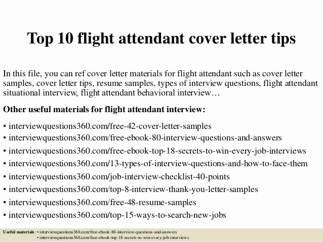 Flight attendant Cover Letter Sample Beautiful top 10 Flight attendant Cover Letter Tips