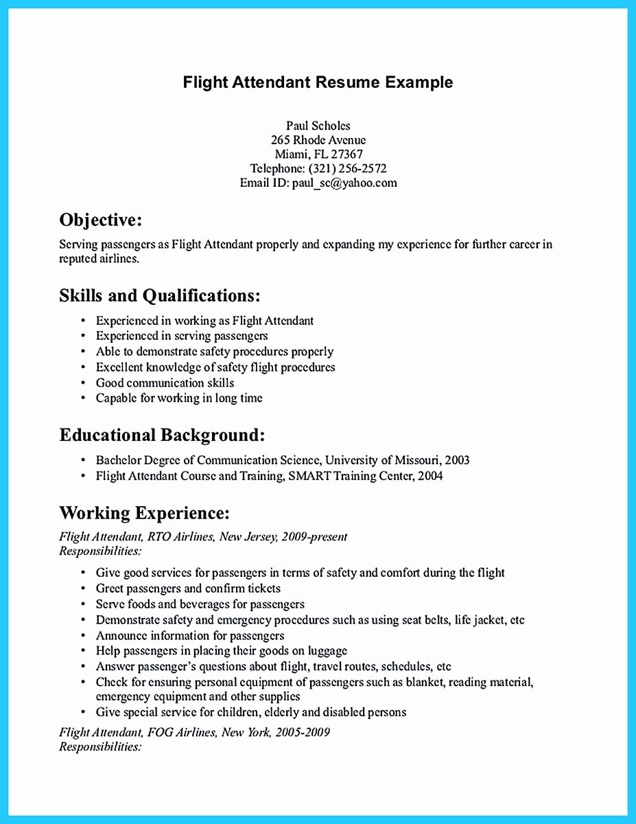 Flight attendant Cover Letter Sample Best Of Pin On Resume Template In 2019