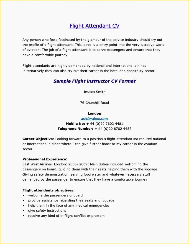 Flight attendant Resume Cover Letter Fresh Flight attendant Cover Letter No Experience