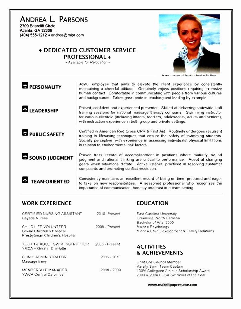 Flight attendant Resume Cover Letter Fresh Resume Template Cabin Crew Cover Letter Flight attendant