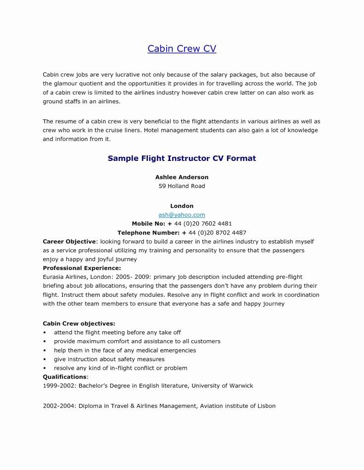 Flight attendant Resume Cover Letter Inspirational Best solutions Air Canada Flight attendant Sample Resume