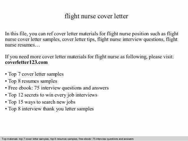 Flight attendant Resume Cover Letter Lovely Flight Nurse Cover Letter