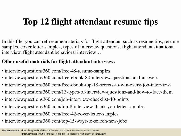 Flight attendant Resume Cover Letter Luxury top 12 Flight attendant Resume Tips