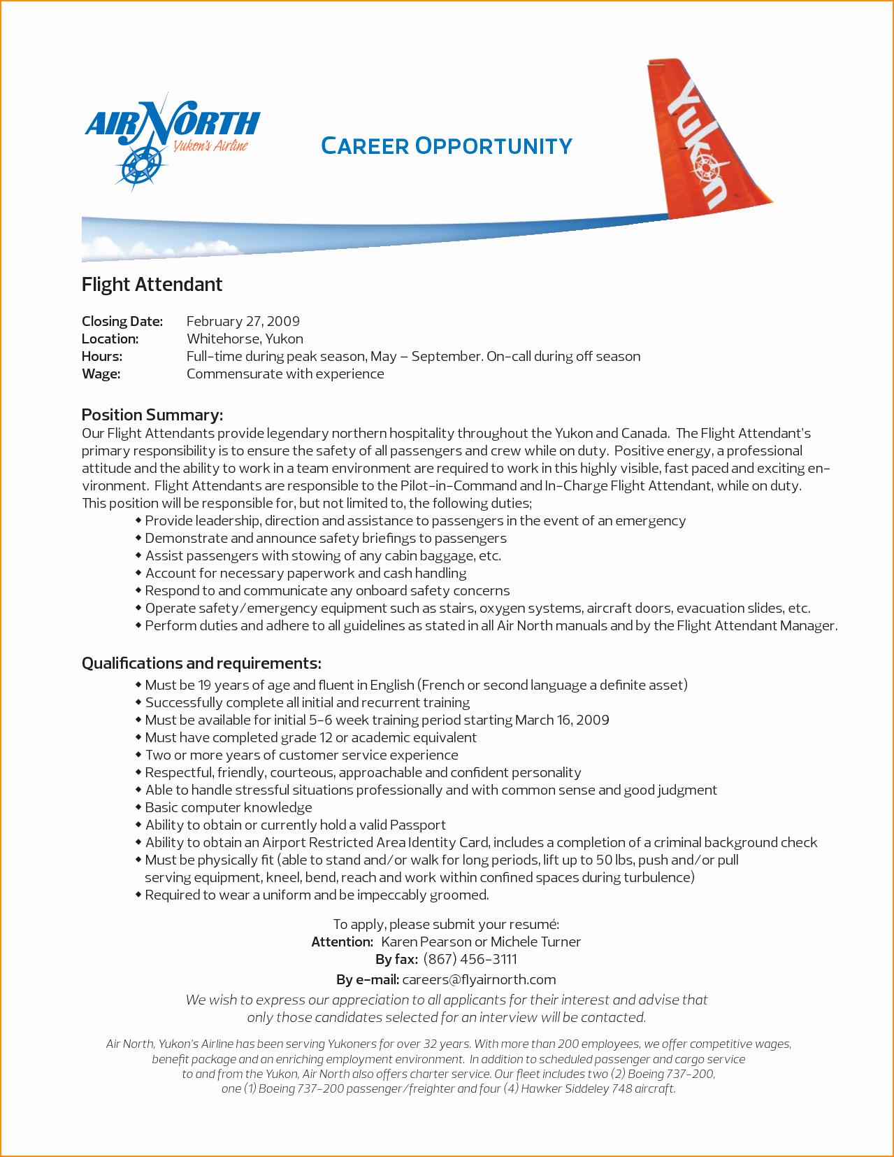 Flight attendant Resume Cover Letter Unique Cover Letter for Flight attendant No Experience Cover