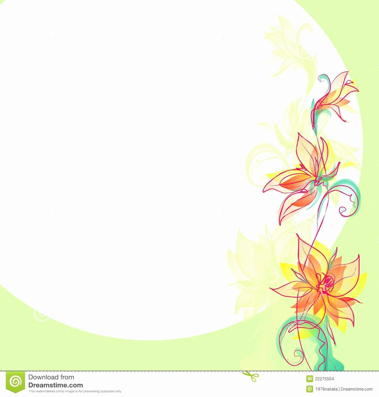 Flower Background Design Images Fresh Flower Background for Design Stock Illustration