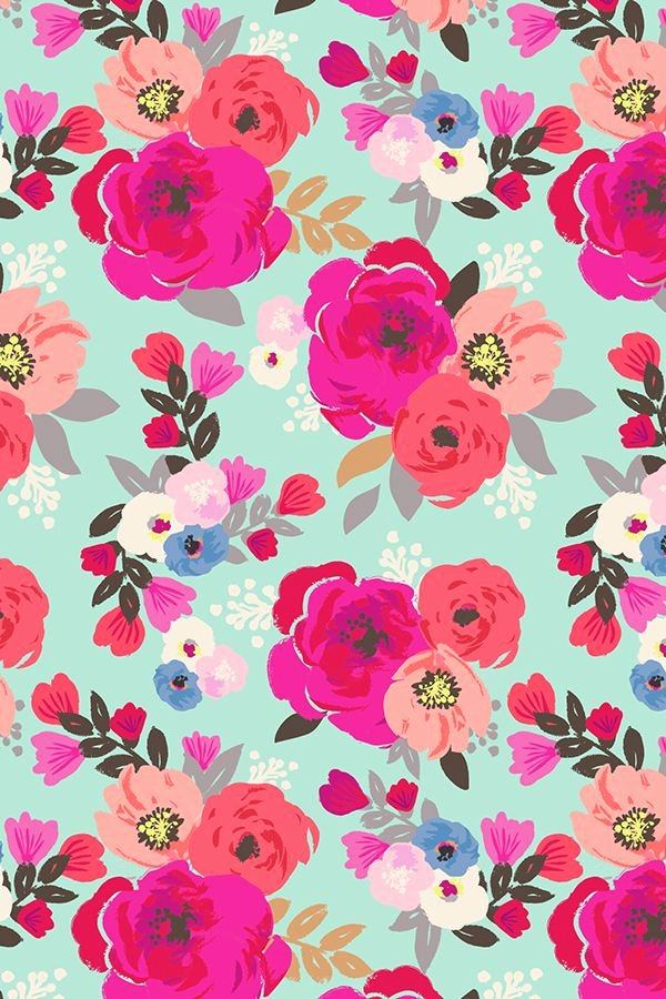 Flower Background Design Images New Hand Painted Sweet Pea Floral Aqua Design by Crystal Walen