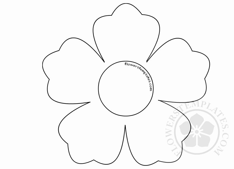 Flower Shapes to Cut Out Awesome Printable Flower Shape Cut Out
