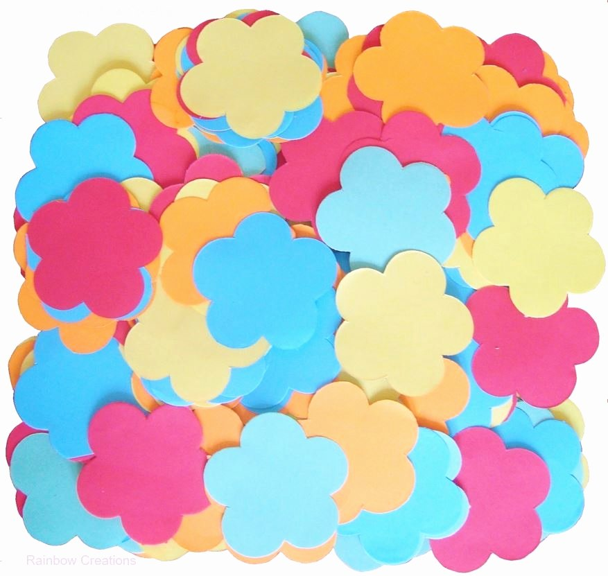 Flower Shapes to Cut Out Luxury Pre Cut Paper Flower Shapes Paper & Card