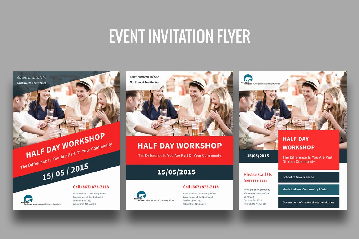 Flyer Samples for An event Fresh event Invitation Flyer Flyer Templates On Creative Market