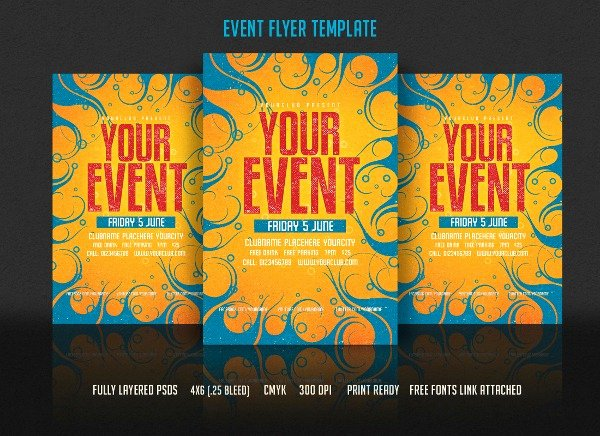 Flyer Samples for An event Inspirational event Flyer Templates Free