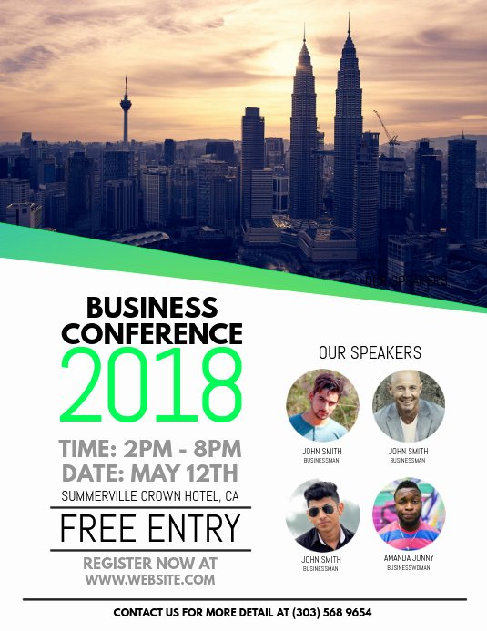 Flyer Samples for An event Unique Business Conference Flyer Template