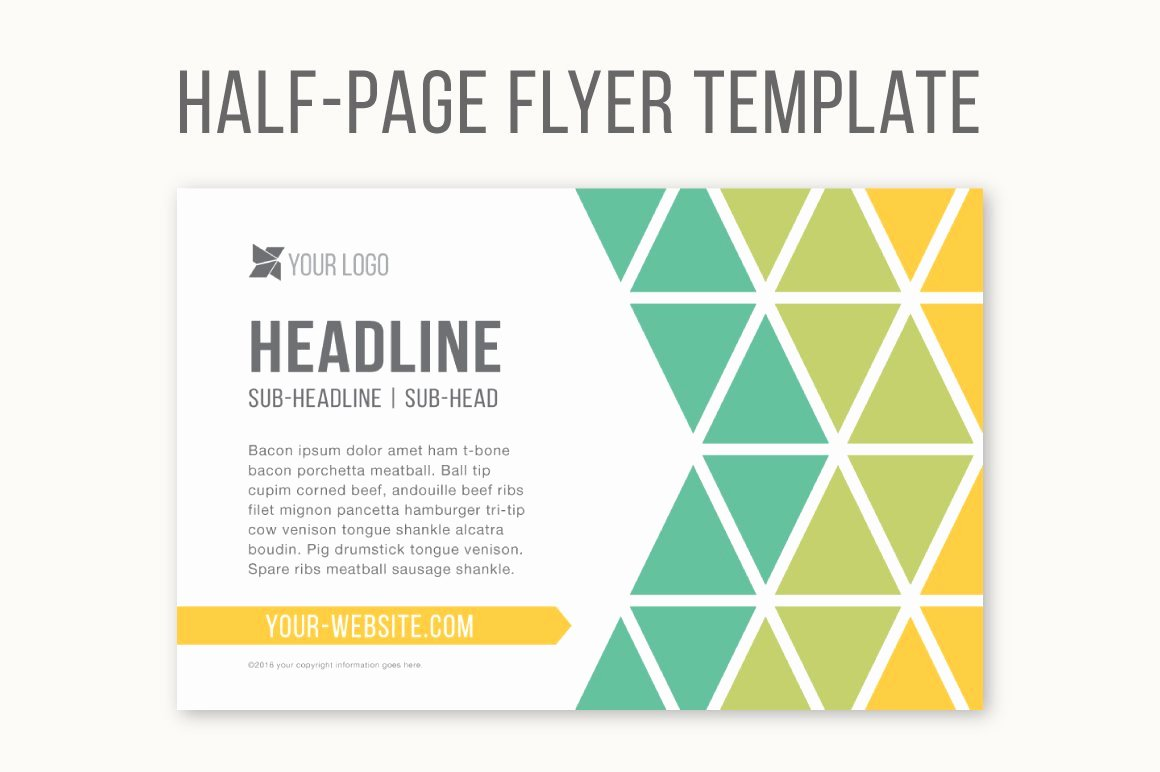 Flyer Template for Word Awesome Half Page Flyer Template Templates Creative Market