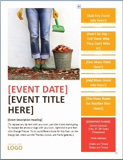 Flyer Template for Word Best Of Generic Seasonal event Flyer Template