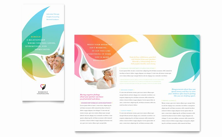 Flyer Template for Word Elegant Marriage Counseling Tri Fold Brochure Template Word