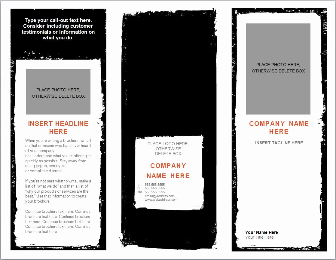 Flyer Template for Word Fresh Word Brochure Template