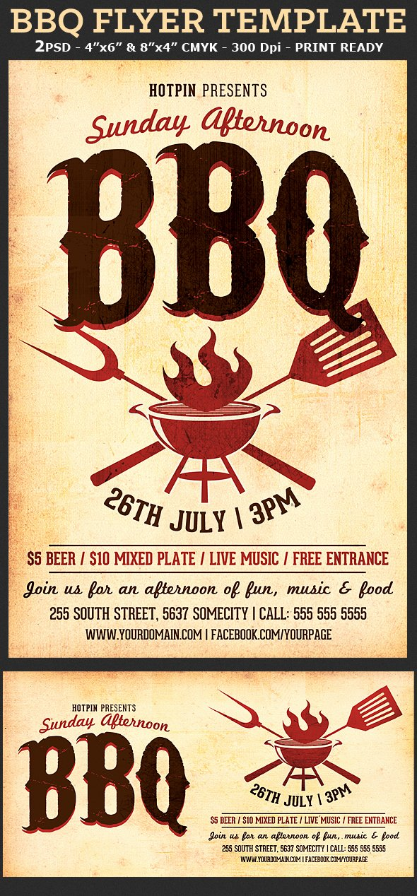 Flyer Template for Word Inspirational Barbecue Bbq Flyer Template