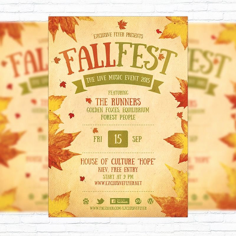 Flyers Templates Microsoft Word Fresh Fall Festival Flyer Template Printable Flyers In Word