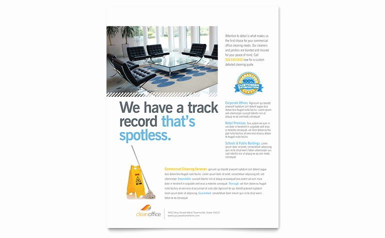 Flyers Templates Microsoft Word Inspirational Janitorial & Fice Cleaning Flyer Template Word & Publisher